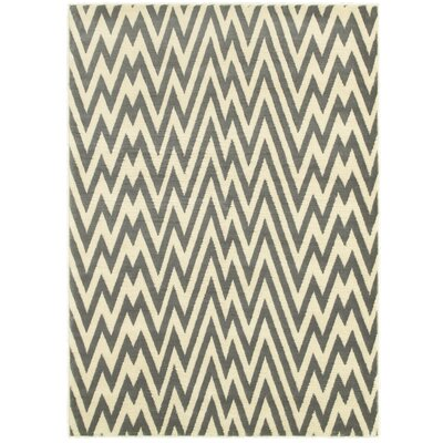 Grace Grey/White Area Rug Rug Size: 52 x 72