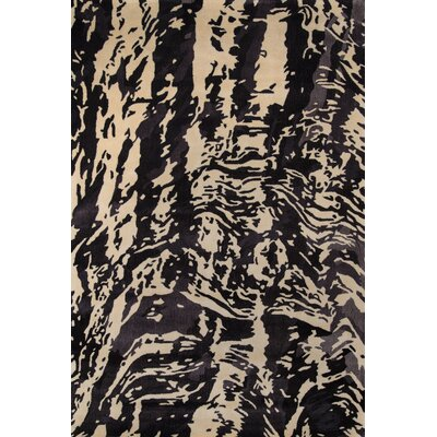 Despina Hand-Tufted Charcoal Area Rug Rug Size: Rectangle 53 x 8