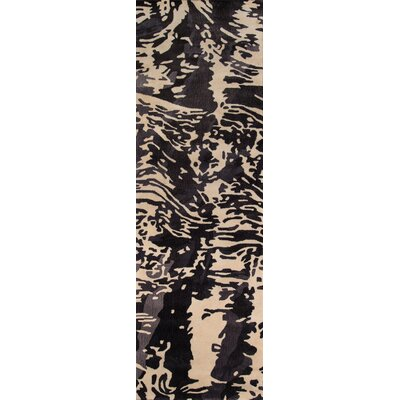 Tyler Hand-Tufted Charcoal Area Rug Rug Size: Runner 26 x 12