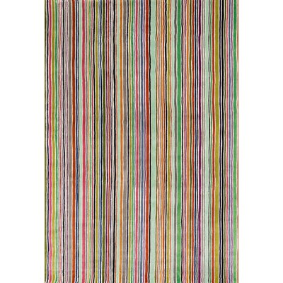Despina Hand-Tufted Striped Area Rug Rug Size: Round 59 x 59