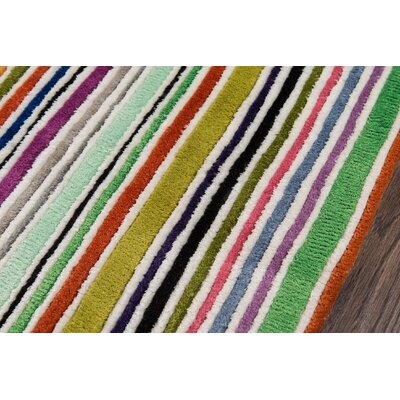 Despina Hand-Tufted Striped Area Rug Rug Size: 96 x 136