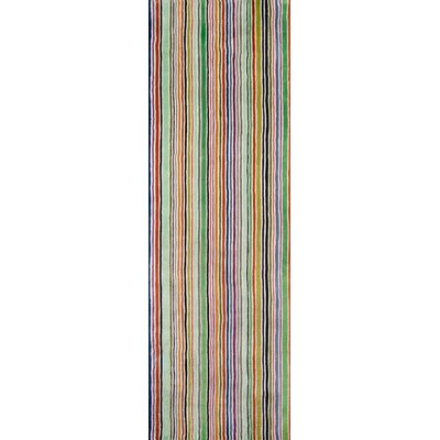 Despina Hand-Tufted Striped Area Rug Rug Size: Runner 26 x 8