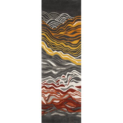 Tyrone Hand-Tufted Gray Area Rug Rug Size: Runner 26 x 12