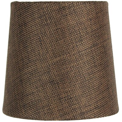 Dywer Contemporary 5.5 Burlap Drum Candelabra Shade Color: Chocolate