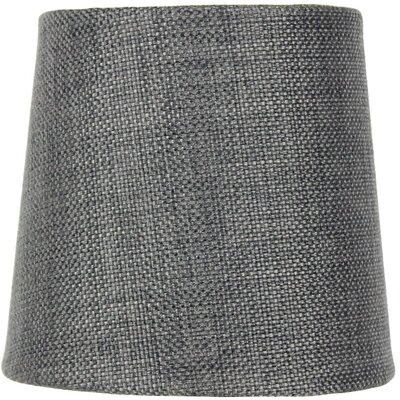 Contemporary 5.5 Burlap Drum Candelabra Shade Color: Granite Gray
