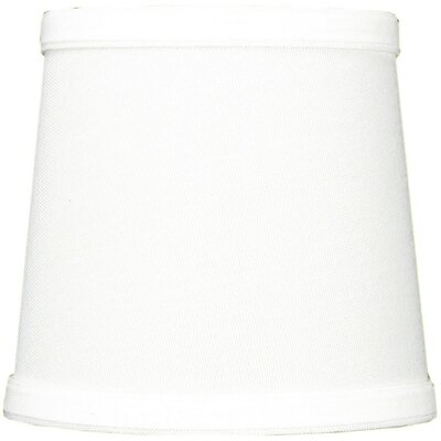 Contemporary 5.5 Linen Drum Candelabra Shade Color: White