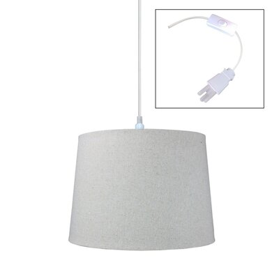 Fran 1-Light Drum Pendant Size: 10