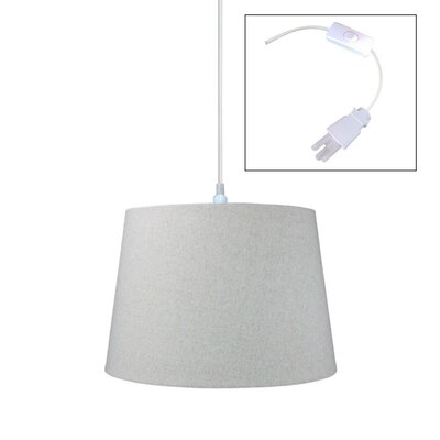 Fran 1-Light Drum Pendant Size: 11