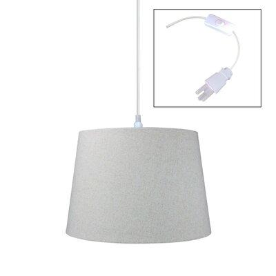 Fran 1-Light Drum Pendant Size: 11 H x 16 W x 16 D