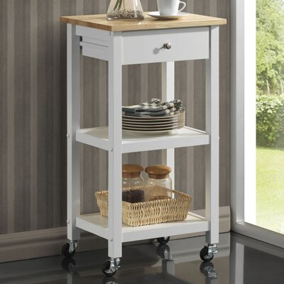 Horace Kitchen Cart Base Finish: White