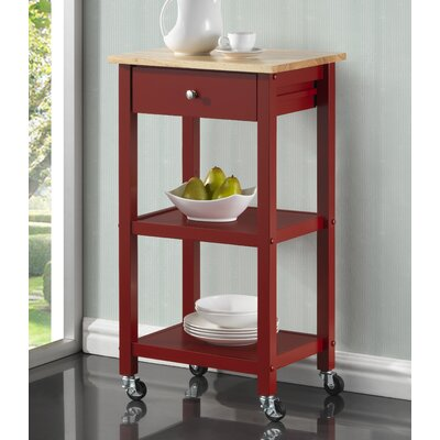 Horace Kitchen Cart Base Finish: Red