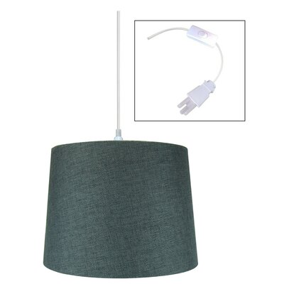 Ilene 1-Light Drum Pendant Shade Color: Granite