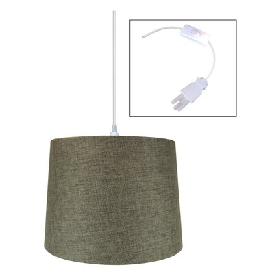 Ilene 1-Light Drum Pendant Shade Color: Chocolate
