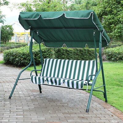 Welch Porch Swing with Stand Finish: Green