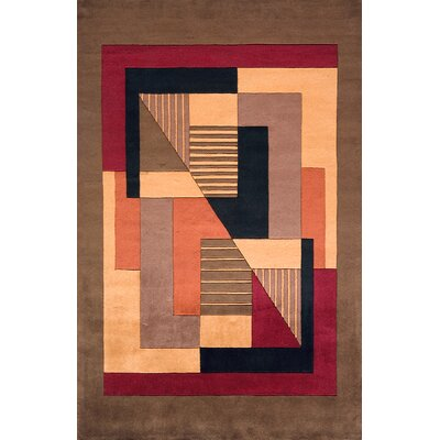 Zed Pomegranat Hand-Tufted Brown Area Rug Rug Size: Runner 26 x 8