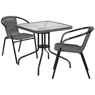 Nathaniel 3 Piece Bistro Set Finish: Gray