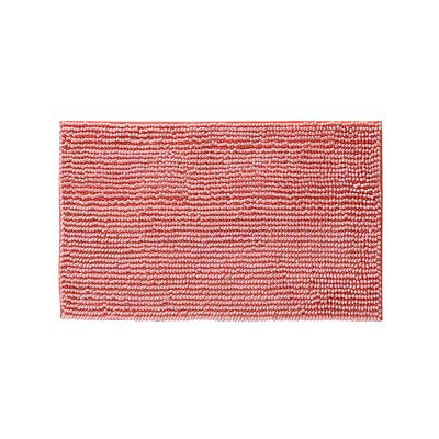 Claretta Rectangle Bath Rug Size: 23 W x 38 L, Color: Coral