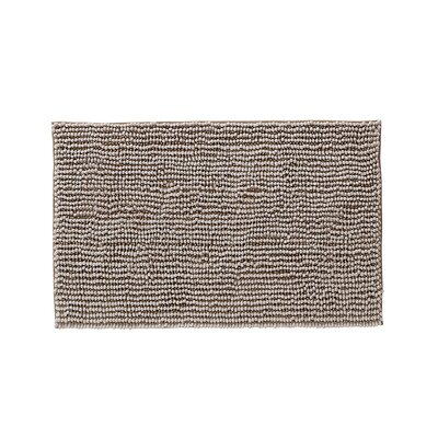 Claretta Rectangle Bath Rug Size: 23 W x 38 L, Color: Taupe