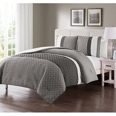 Aegean Comforter Set Size: Full/Queen, Color: Gray
