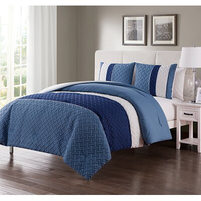 Aegean Comforter Set Size: King, Color: Surf