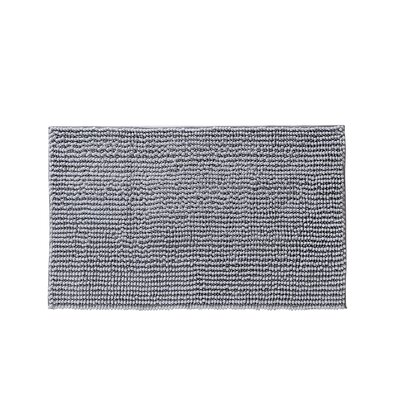Claretta Rectangle Bath Rug Size: 21 W x 34 L, Color: Silver