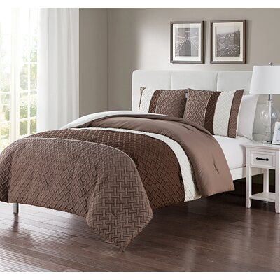 Aegean Comforter Set Size: Twin XL, Color: Natural