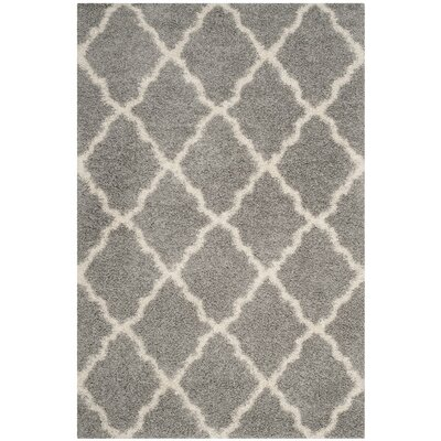 Conner Shag Beige/Gray Area Rug Rug Size: Rectangle 23 x 10