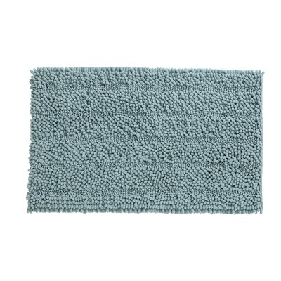 Kenneth Bath Rug Size: 17 W x 24 L, Color: Aqua