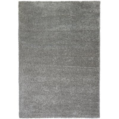 Reynolds Plain Solid Grey Area Rug Rug Size: 3'3