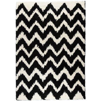 Reynolds Chevron Black Rug Rug Size: 5 x 72