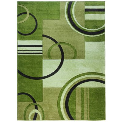 Dawson Galaxy Waves Green Area Rug Rug Size: 53 x 73