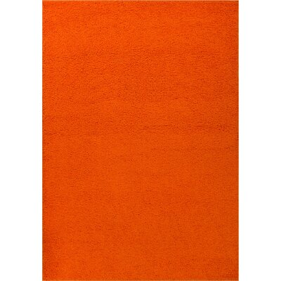 Reynolds Plain Solid Orange Area Rug Rug Size: 33 x 53