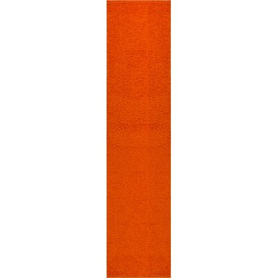 Reynolds Plain Solid Orange Area Rug Rug Size: Runner 18 x 72