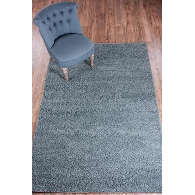 Reynolds Plain Solid Gray Area Rug Rug Size: 67 x 910