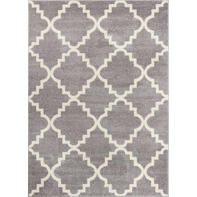 Dax Lattice Gray & White Area Rug Rug Size: 23 x 311