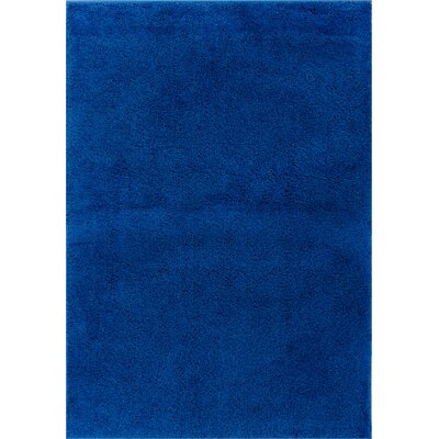 Reynolds Plain Solid Dark Blue Area Rug Rug Size: 67 x 910
