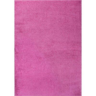 Dante Plain Solid Fuchsia Area Rug Rug Size: 67 x 910