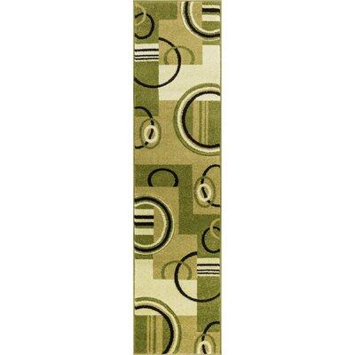 Dawson Galaxy Waves Green Area Rug Rug Size: Runner 18 x 7