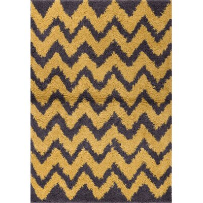 Reynolds Chevron Gold/Yellow Area Rug Rug Size: 33 x 53