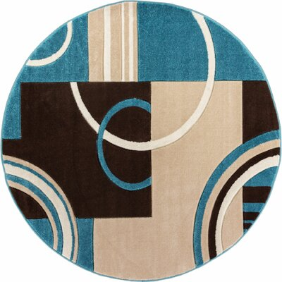 Dawson Galaxy Waves Blue Area Rug Rug Size: 710 x 910
