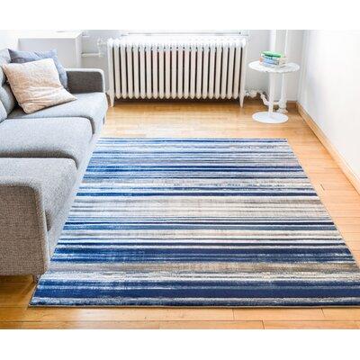 Ramona Blue Area Rug Rug Size: 53 x 73