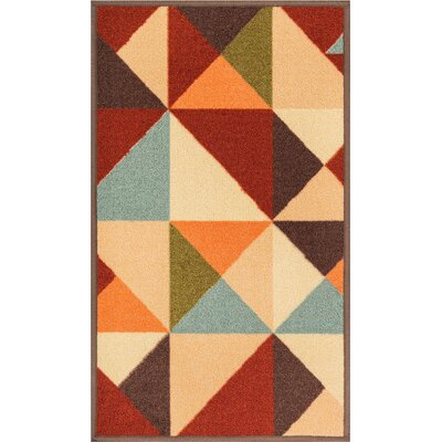 Daniel Red Area Rug Rug Size: 33 x 47