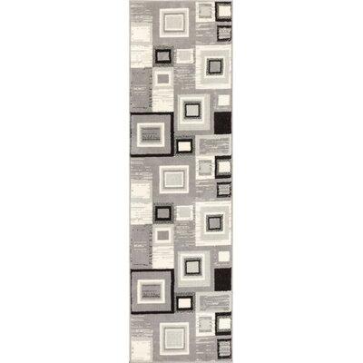 Darren Gray/Cream Area Rug Rug Size: Runner 2 x 72