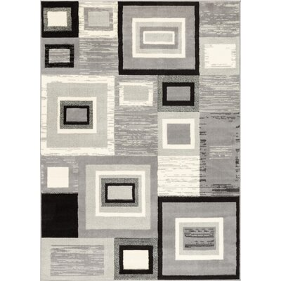 Darren Gray/Cream Area Rug Rug Size: 93 x 126