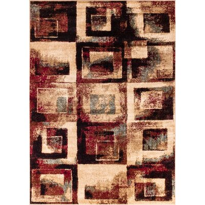 Carly Red/Beige Area Rug Rug Size: 23 x 311