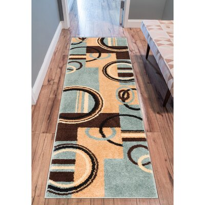 Oliver Light Blue Area Rug Rug Size: Runner 2 x 73