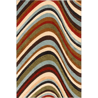 Darrius Earth Green/Blue/Beige Area Rug Rug Size: 5 x 7