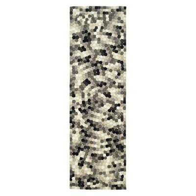 Freda Hand-Tufted Black/Gray Area Rug Rug Size: Runner 26 x 12