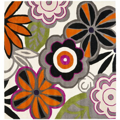 Chidi Floral Area Rug Rug Size: Square 6