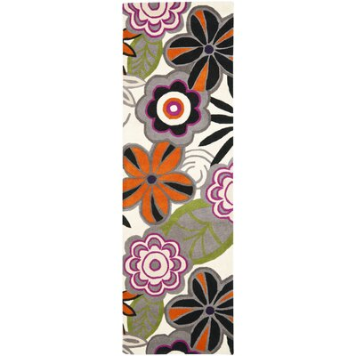 Chidi Floral Area Rug Rug Size: Runner 26 x 8